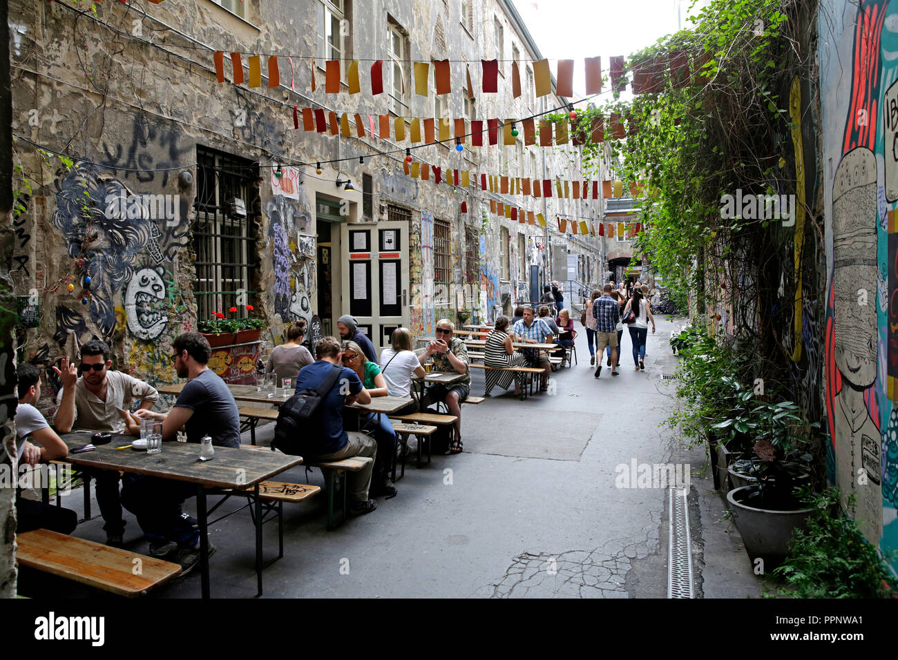 Restaurant In The Open Air Kino Central Backyard