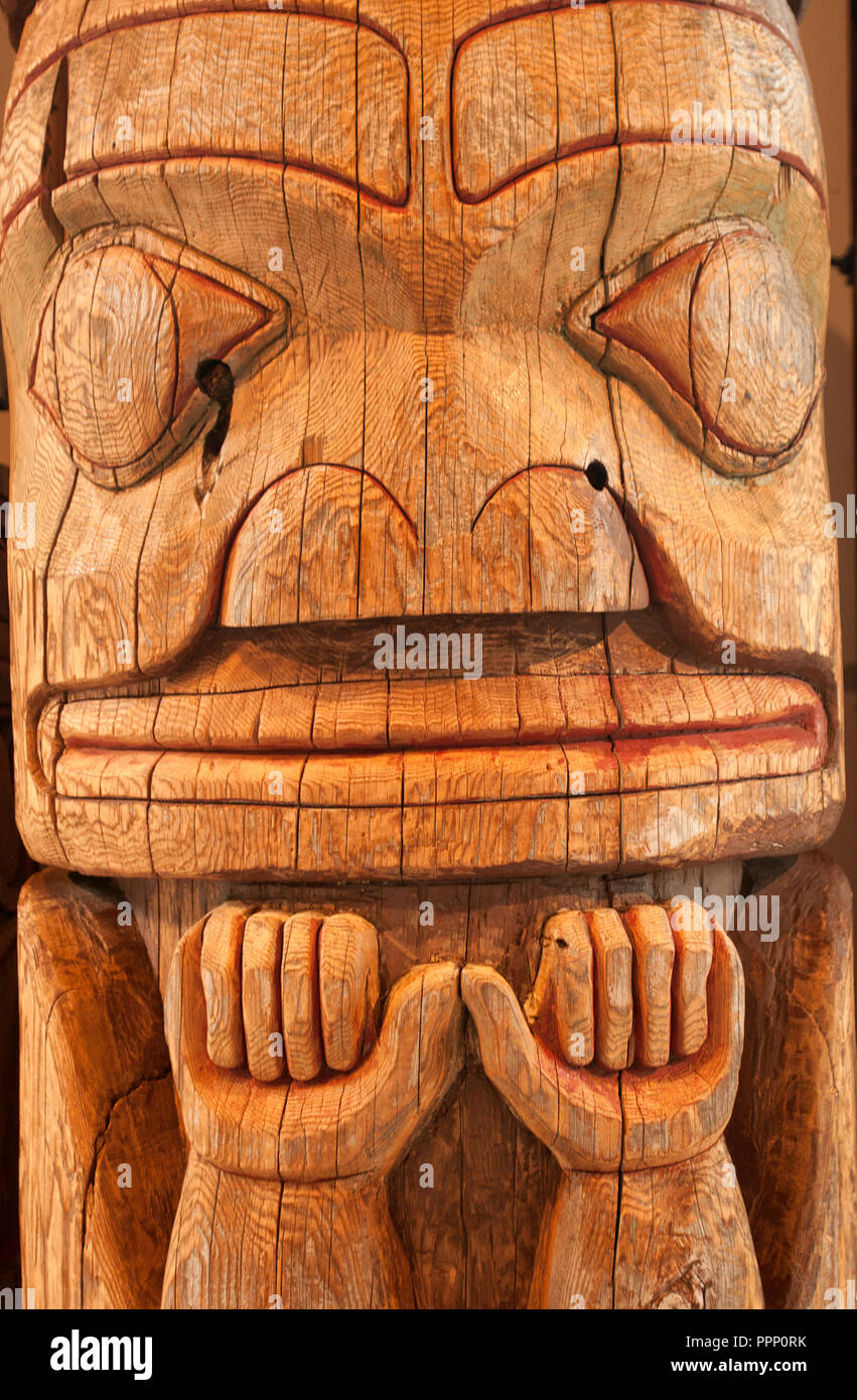 First Nations Museum in Prince Rupert (British Columbia, Canada) - Stock Image