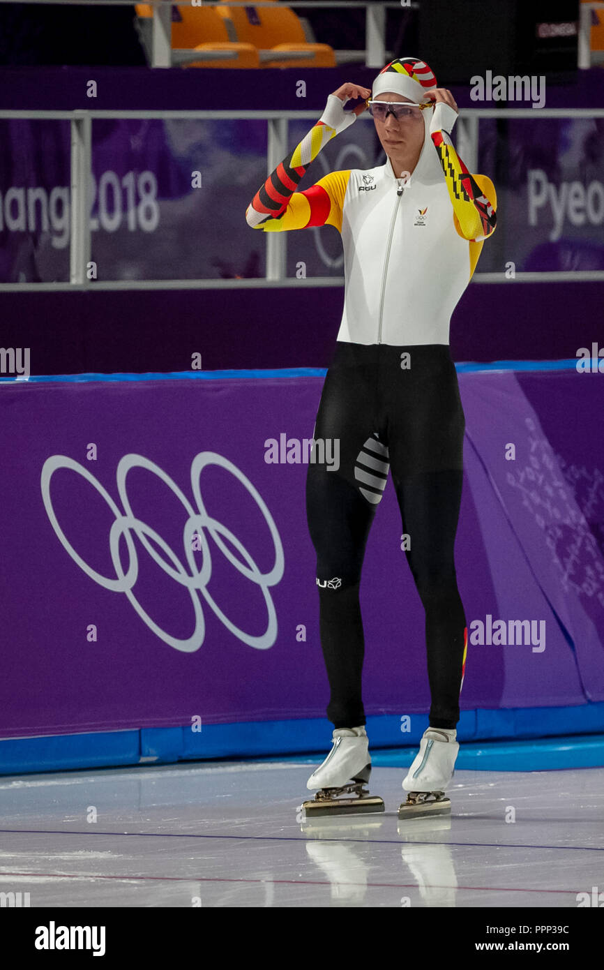 Bart Swings (BEL) competing in the men's  5000m speed skating at the Olympic Winter Games PyeongChang 2018 - Stock Image