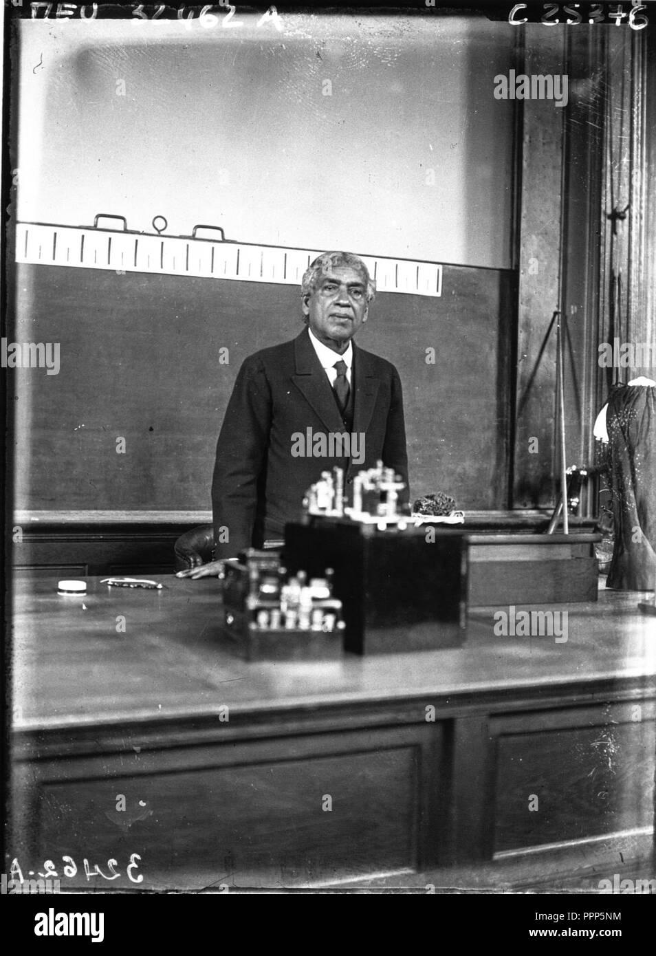 Jagadish Chandra Bose 1926 full image. - Stock Image