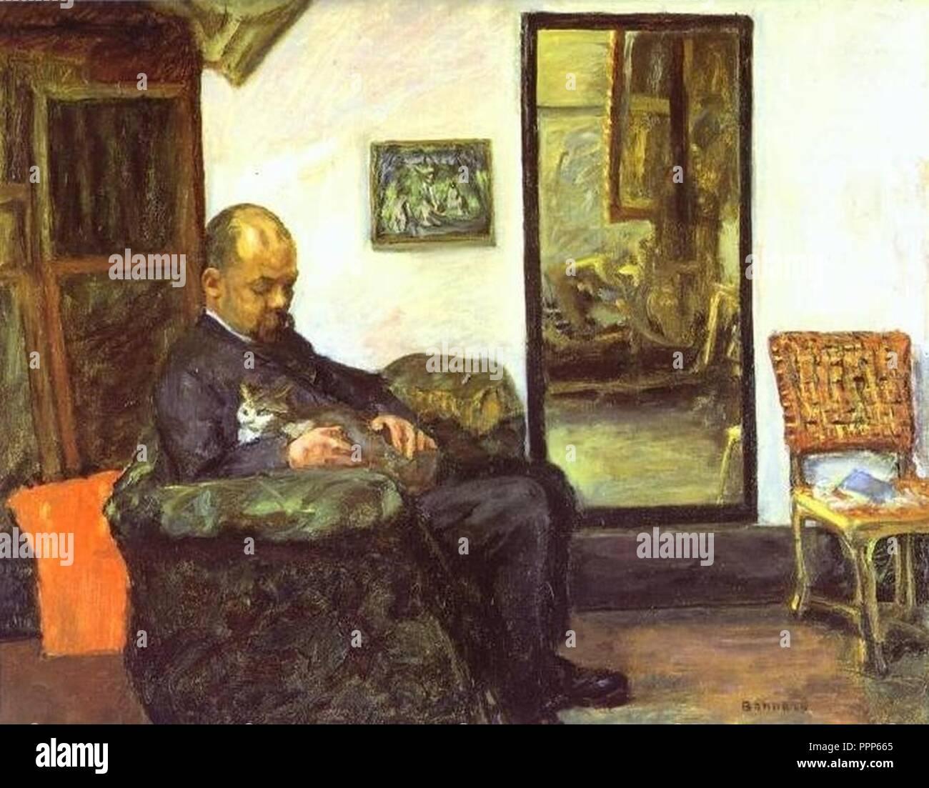 Pierre Bonnard 1904 - Ambroise Vollard. - Stock Image