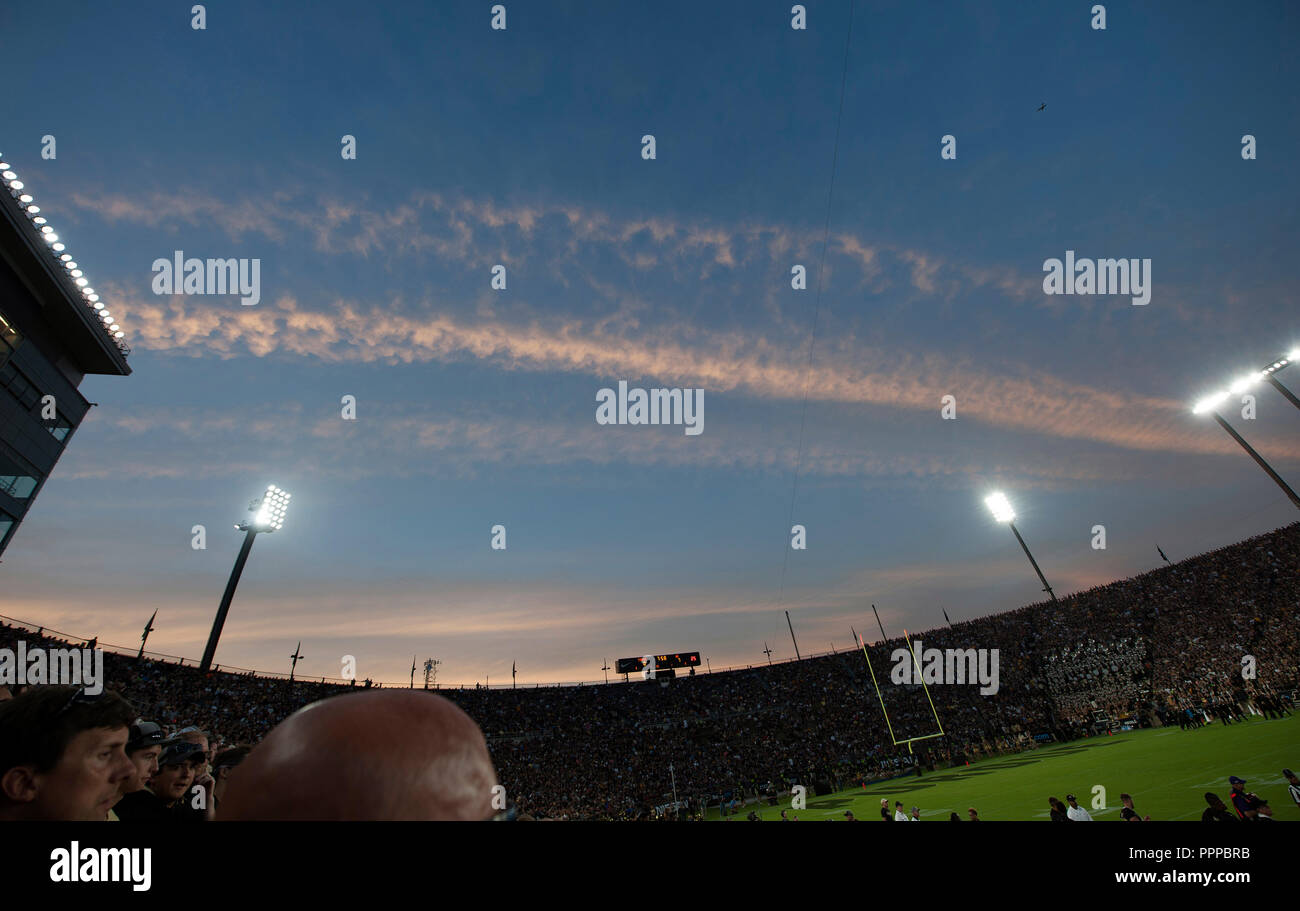 College American Football game, Purdue Boilermakers v Northwestern Wildcats, West Lafayette, Indiana, USA, North America - Stock Image