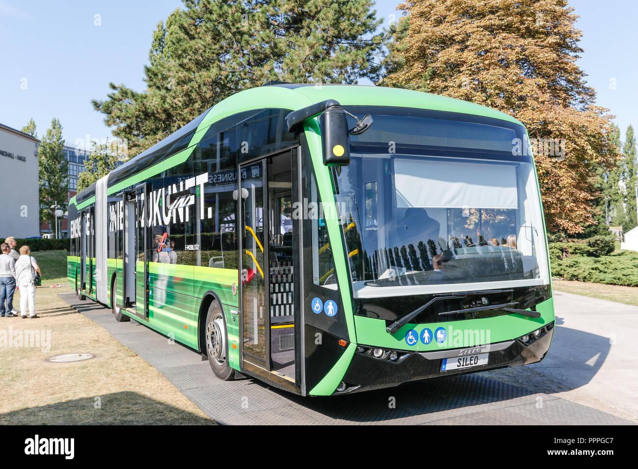 Sileo-Elektrobus auf der Innotrans 2018 in Berlin Stock Photo