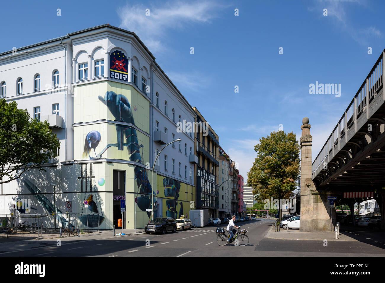 Berlin. Germany. Urban Nation Museum for Urban Contemporary Art, Bülowstraße 7, Schöneberg. - Stock Image