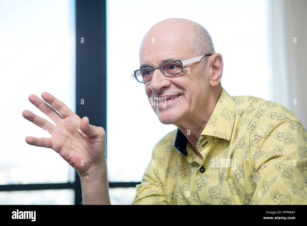 Interview with Marcos Caruso, Brazilian actor and author of soap operas, plays and screenplays. - Stock Image
