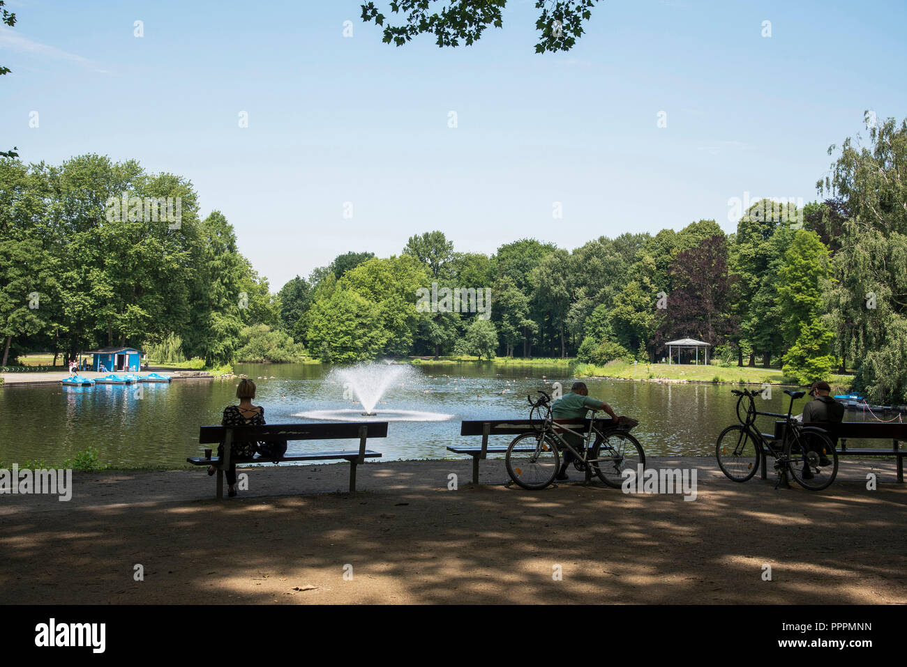 Fredenbaumpark, Dortmund, Ruhr district, North Rhine-Westphalia, Germany - Stock Image