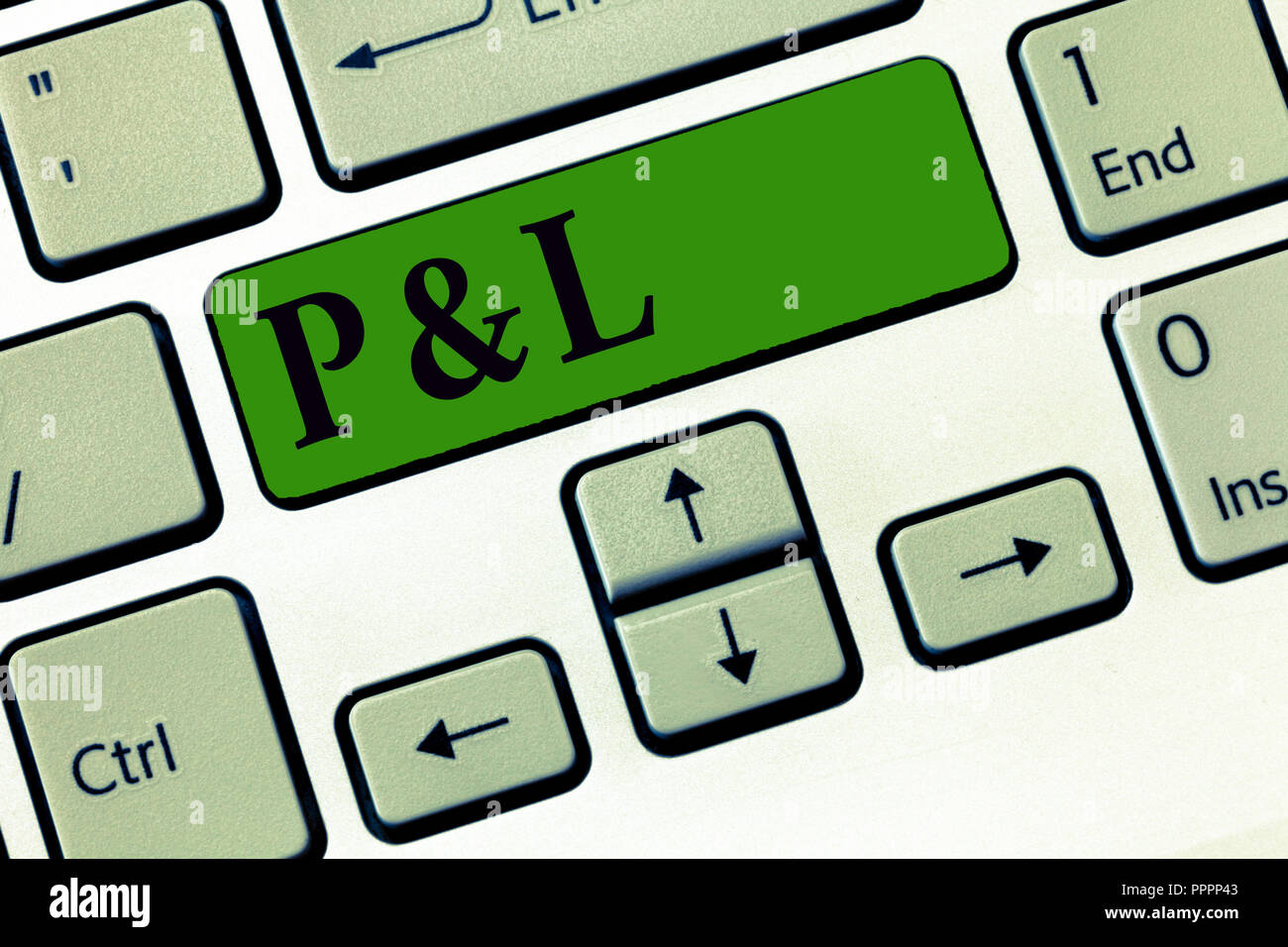 conceptual hand writing showing p and l business photo showcasing