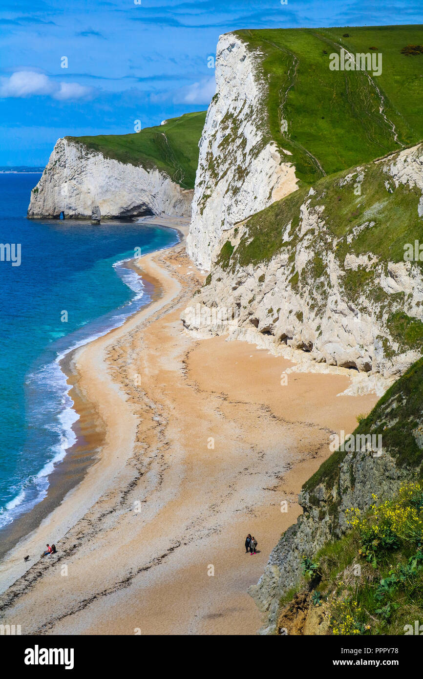 White Cliffs on the Coast of Southern England - Stock Image