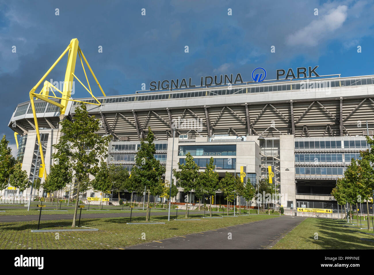 Signal Iduna Park, soccer stadium, BVB, Dortmund, Ruhr district, North Rhine-Westphalia, Germany Stock Photo