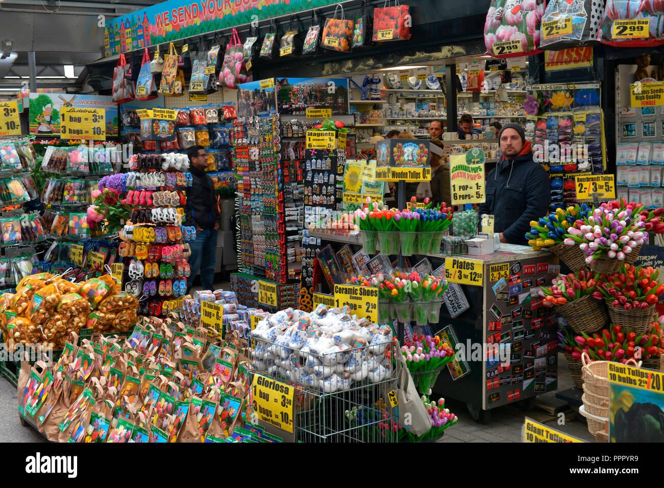 Bloemenmarkt, Singel, Amsterdam, Niederlande Stock Photo