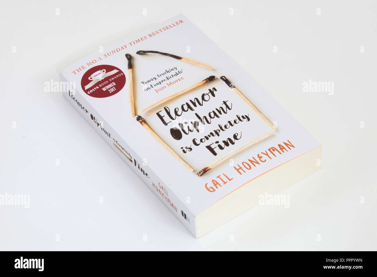 The book, Eleanor Oliphant is completely fine by Gail Honeyman - Stock Image