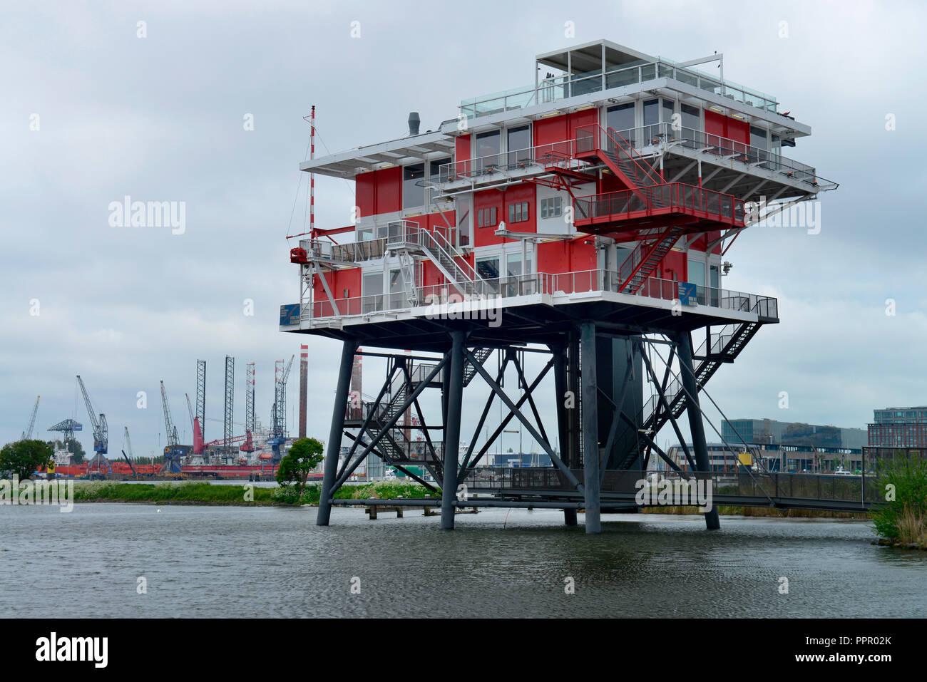 REM Eiland, Haparandadam, Amsterdam, Niederlande - Stock Image