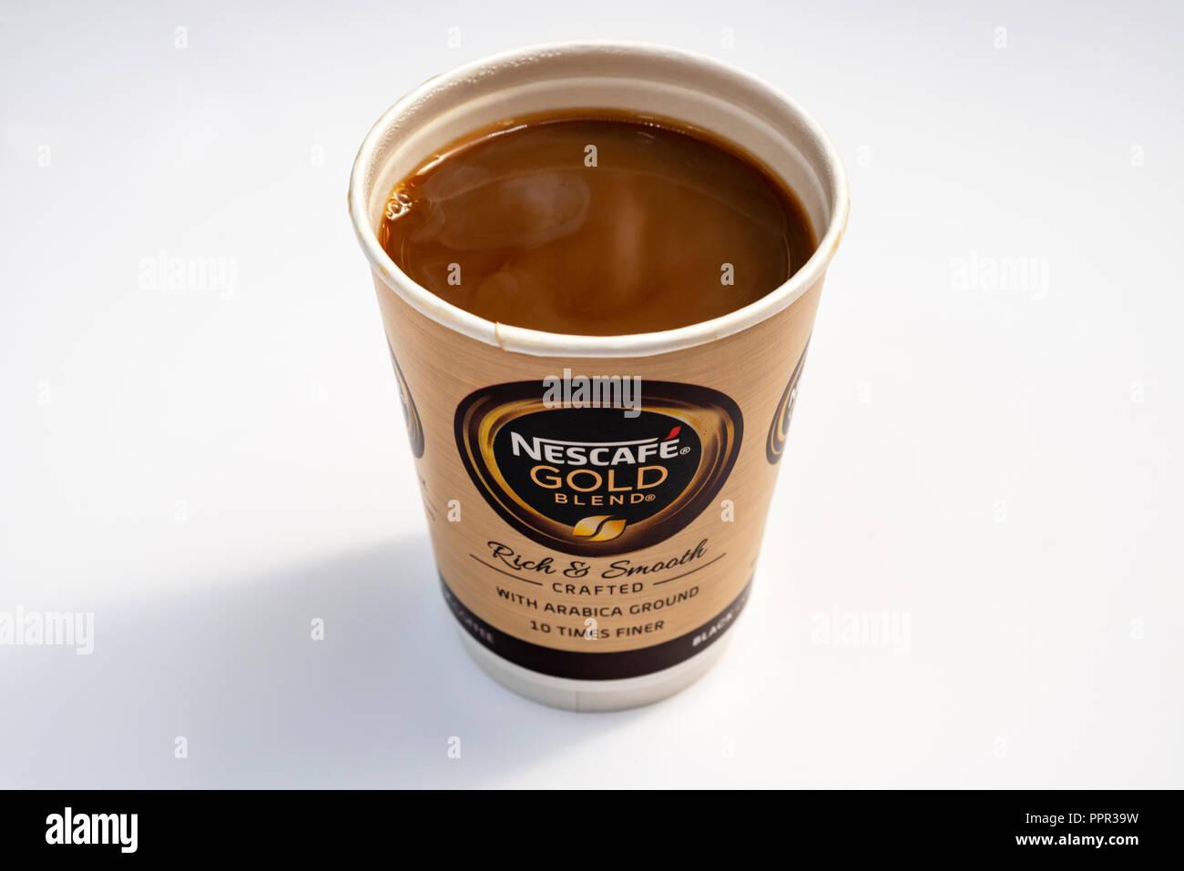 Nescafe Gold take away coffee - Stock Image