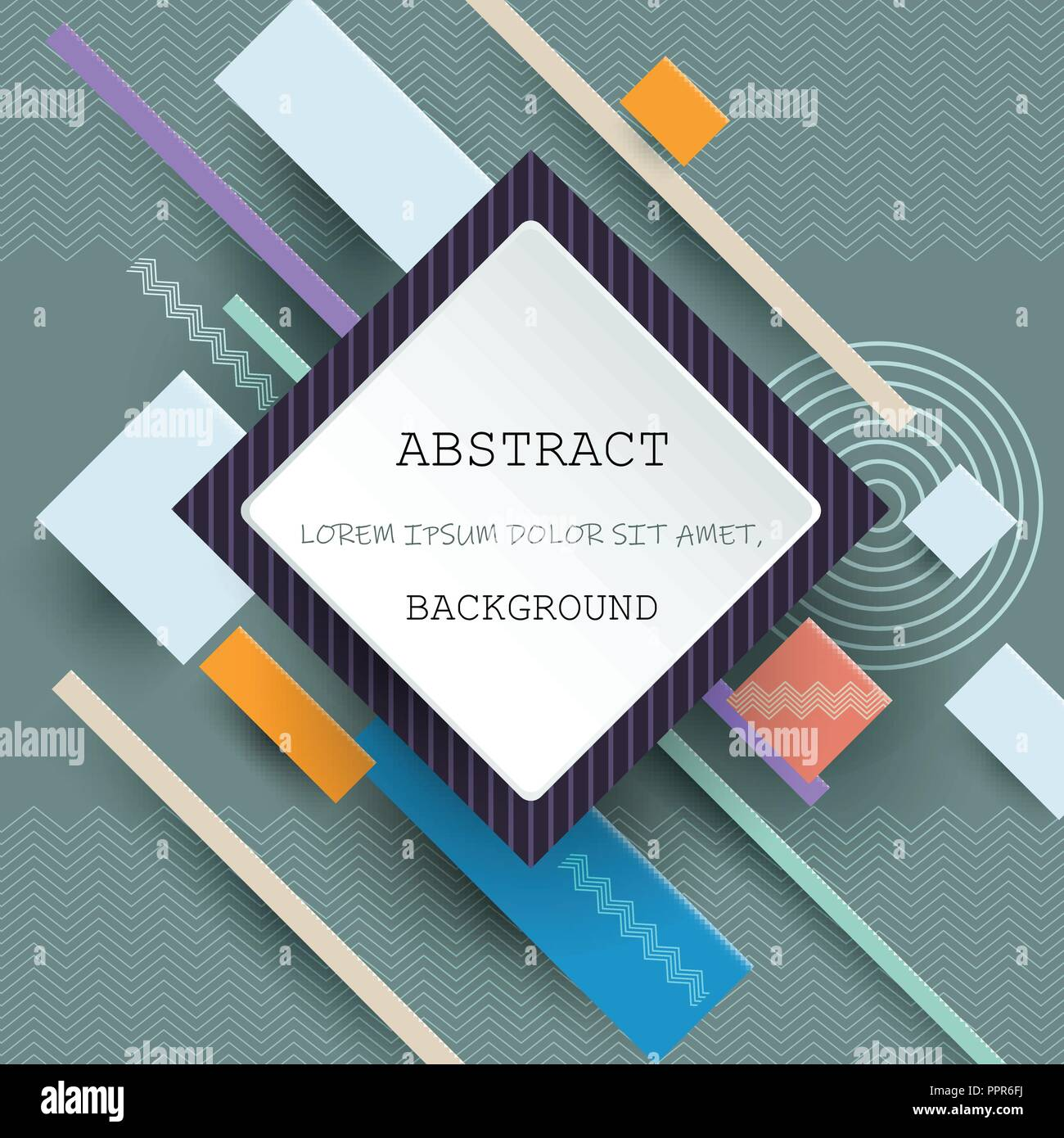 illustration vector of cool abstract geometric background blank