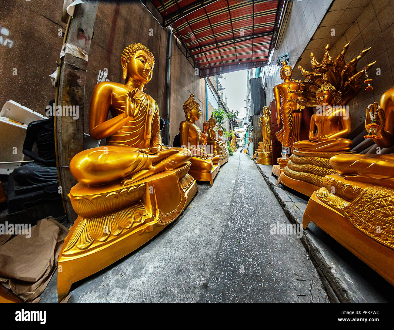 Buddha statues in Bangkok, Thailand Stock Photo