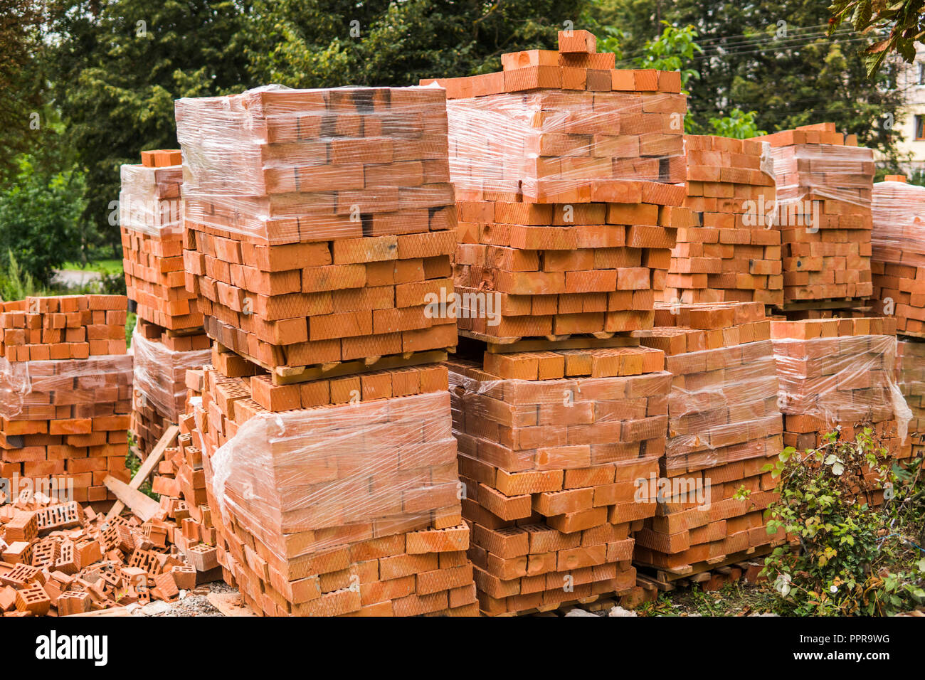 Stacked Bricks High Resolution Stock Photography And Images Alamy