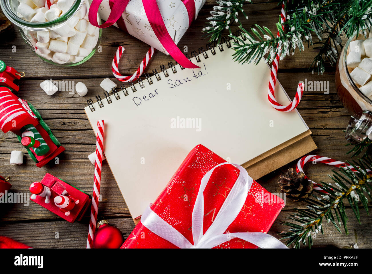 Christmas Concept Preparation For Xmas Holidays Notepad For Wish