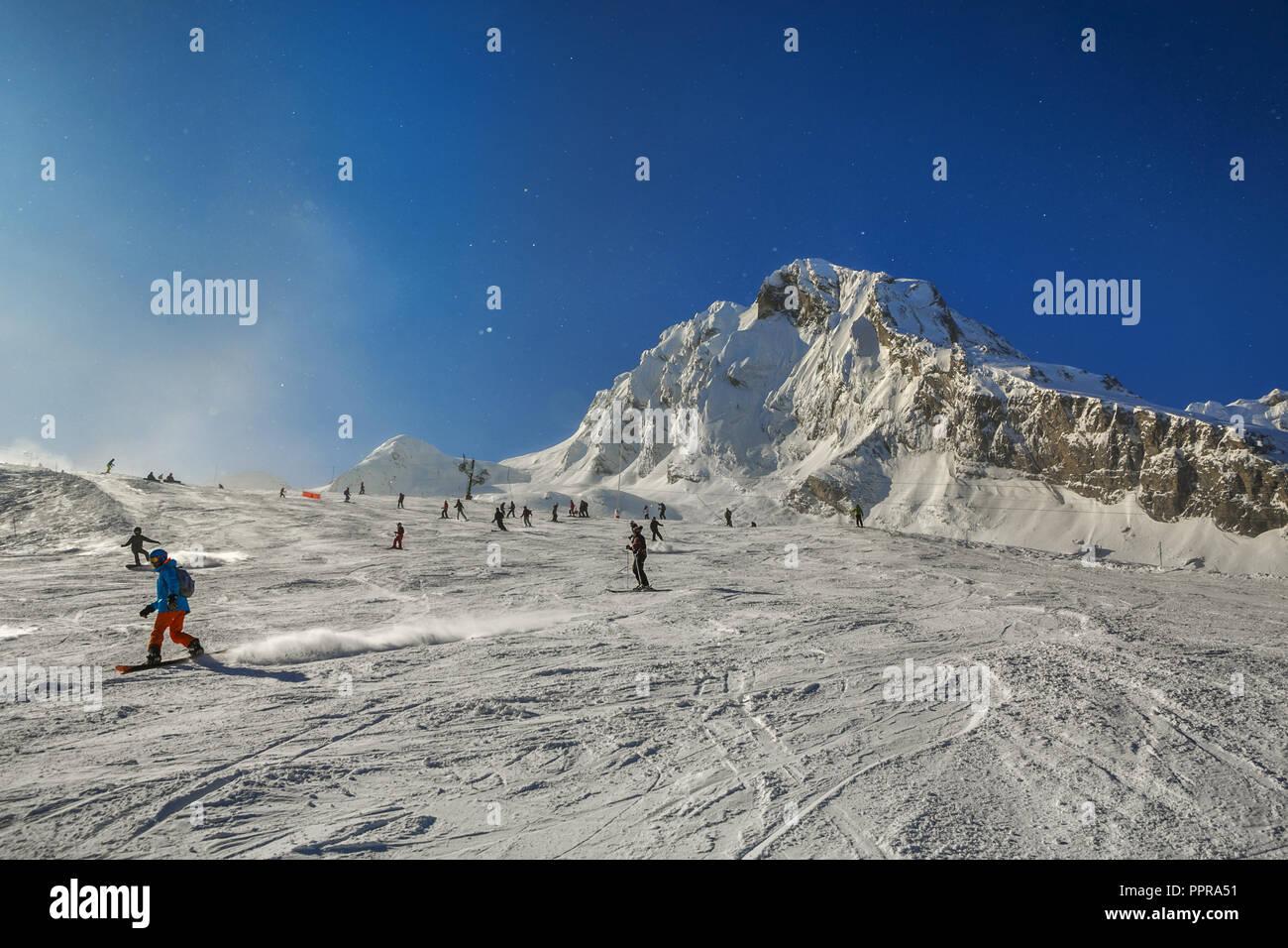 Gourette ski resort, Pyrenees Atlantiques, Aquitaine region, Ossau Valley, France - Stock Image