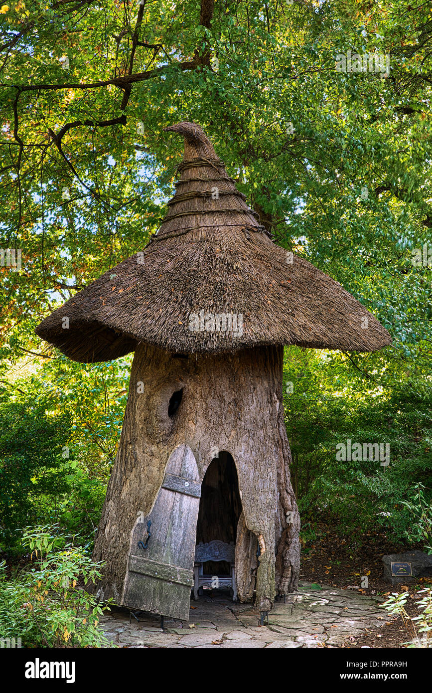Tulip Tree House in the Enchanted Woods of Winterthur Gardens, Delaware, USA - Stock Image