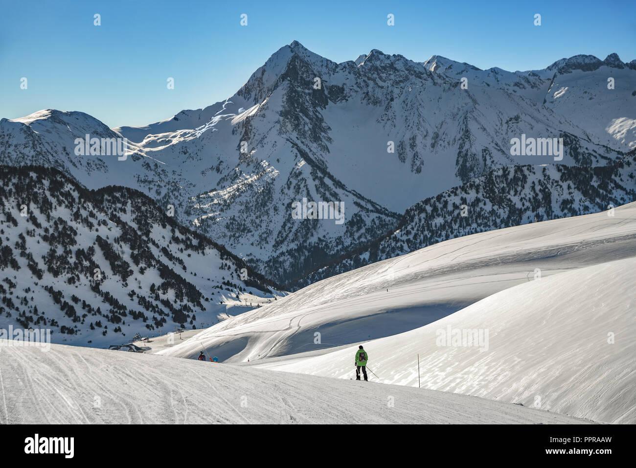 Pla d' Adet ski resort. Saint Lary Soulan. Hautes Pyrenees. France Stock Photo