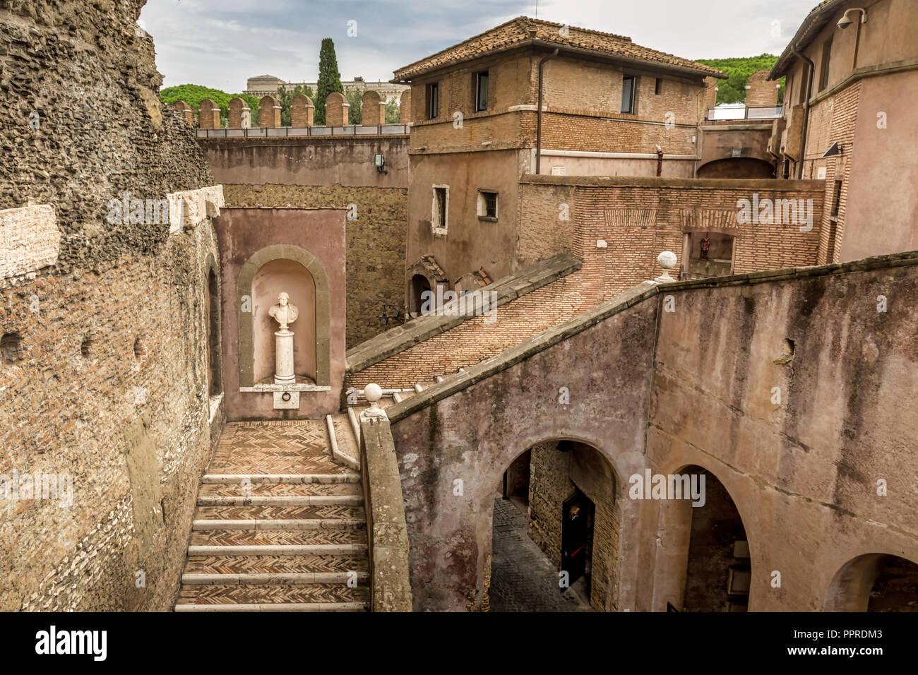 Castel Sant'angelo Interior Stock Photos & Castel Sant