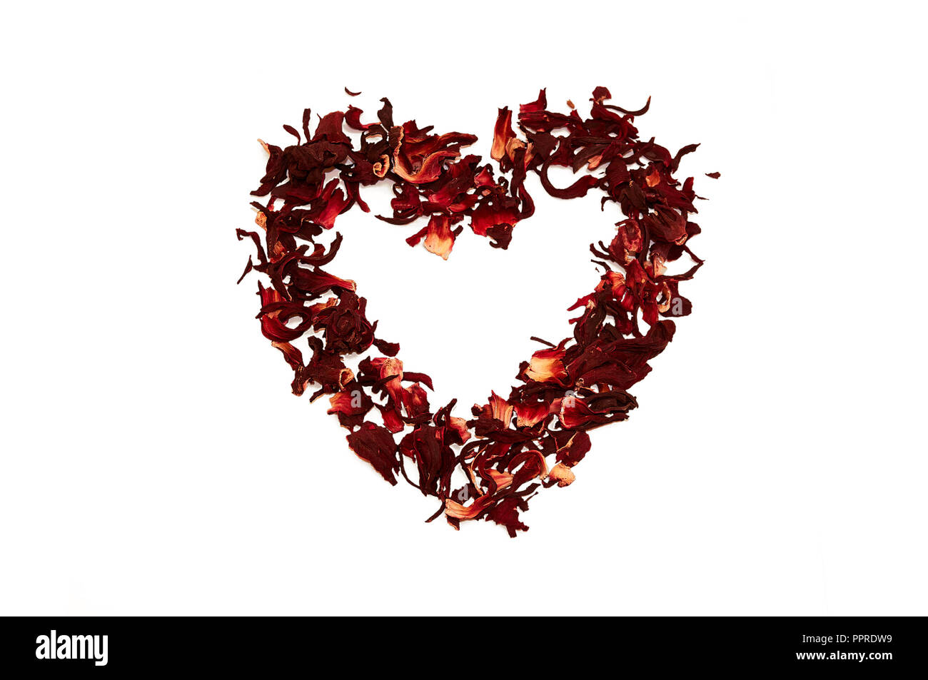 White hibiscus flower red heart cut out stock images pictures alamy hibiscus tea in the shape of heart on a white background stock image izmirmasajfo