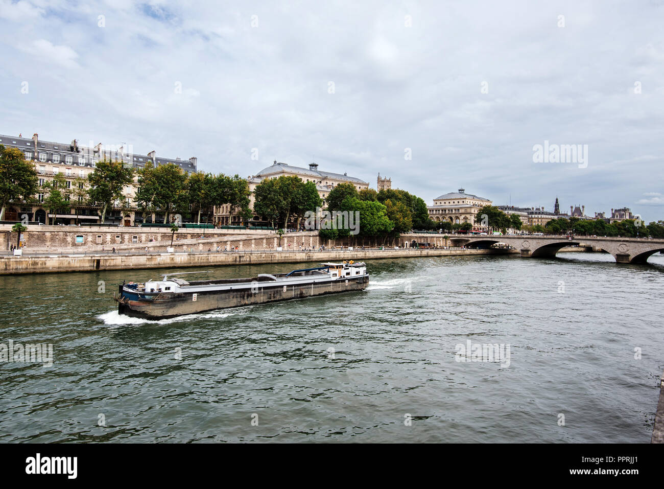 Cite Island View from Seine Riverside - Stock Image