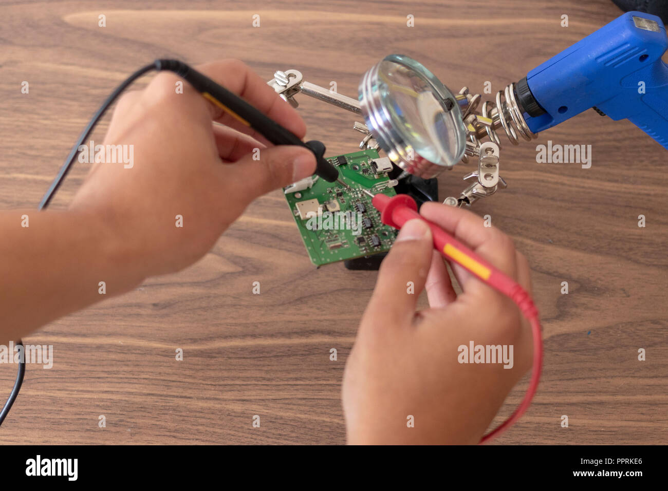 Electrician Part Stock Photos Images Alamy Glass On The Electronic Schematic Diagramideal Technology Background View Of Repair An Circuit Image
