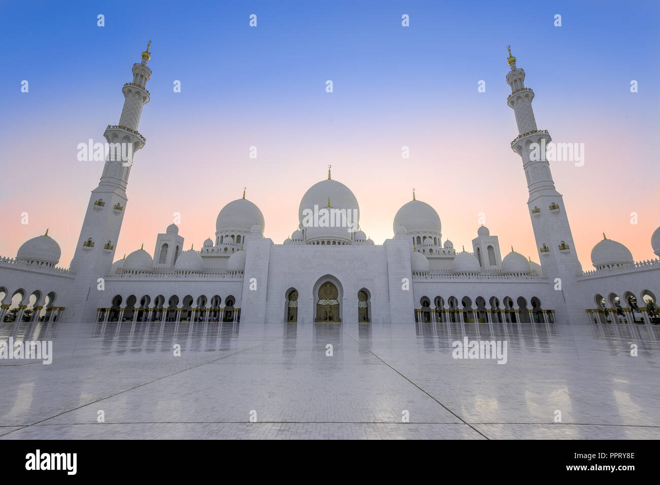Sheik Zayed Mosqua in Abu Dhabi, UAE - Stock Image