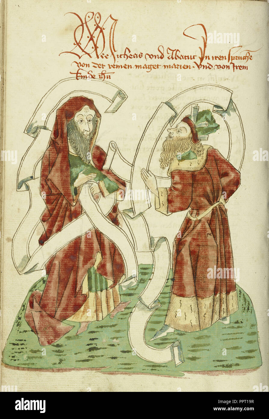 Micah and Habakkuk; Follower of Hans Schilling, German, active 1459 - 1467,  from the Workshop of Diebold Lauber German