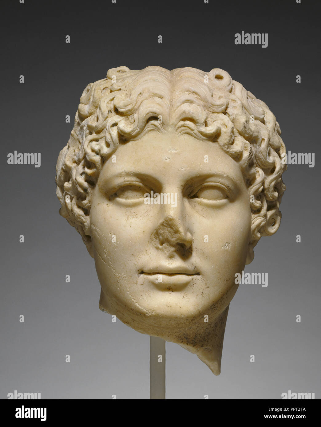 Head of Agrippina the Younger; Roman Empire; about 50 A.D; Marble; 32 × 27 × 28 cm, 12 5,8 × 10 5,8 × 11 in - Stock Image