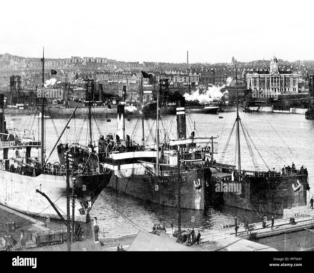 Barry Dock early 1900's - Stock Image