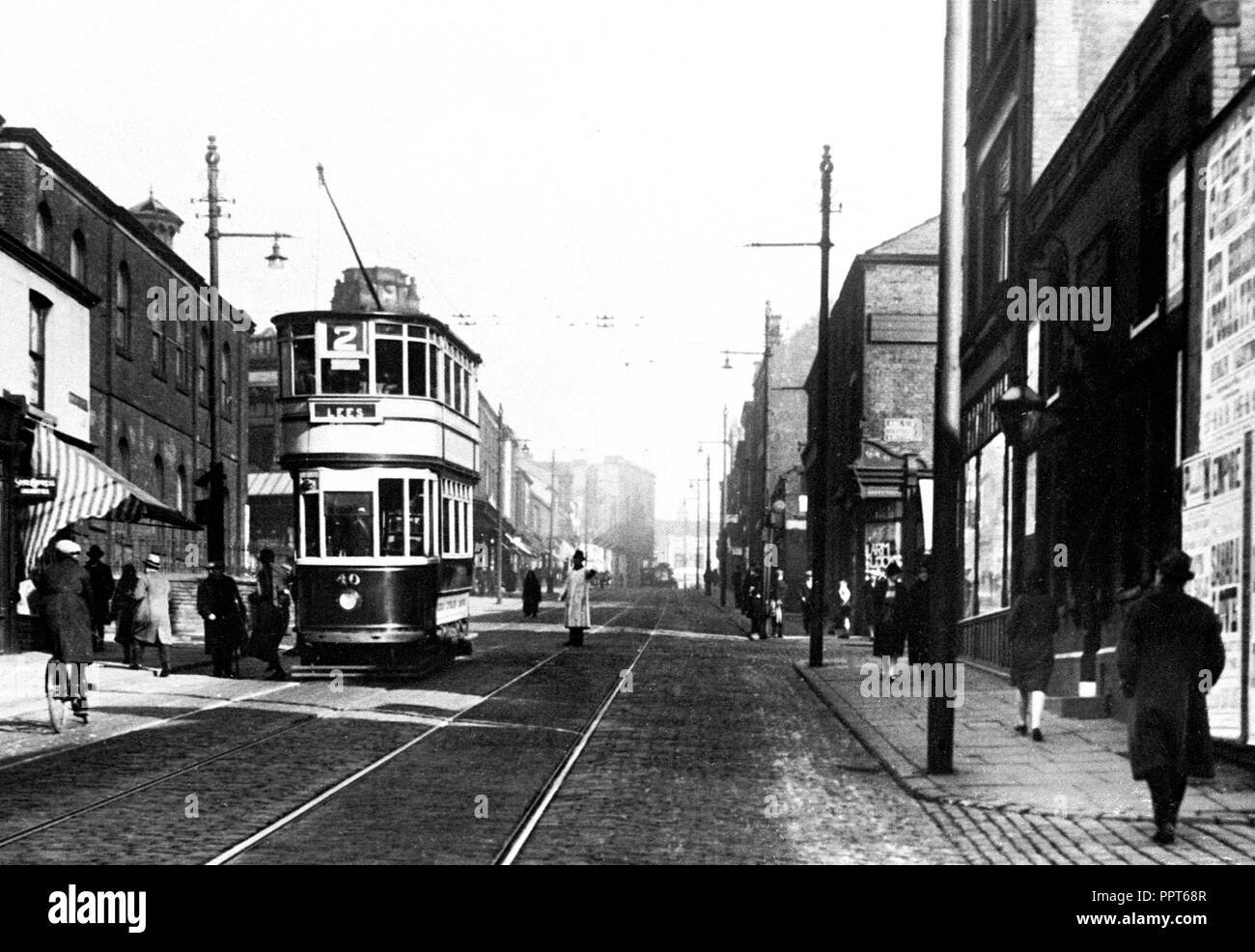 Manchester Street, Oldham early 1900's - Stock Image