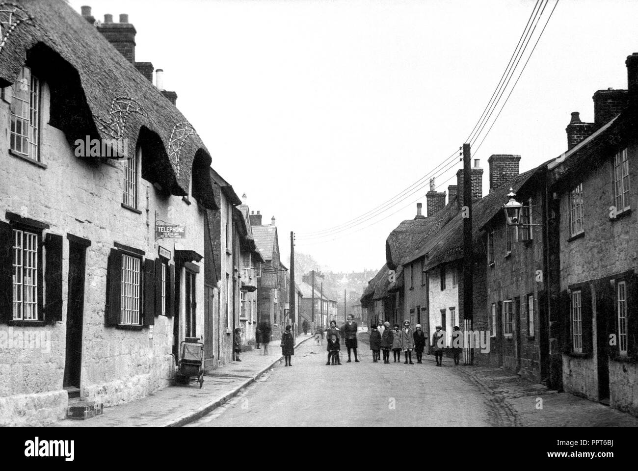 Shaftesbury early 1900's - Stock Image