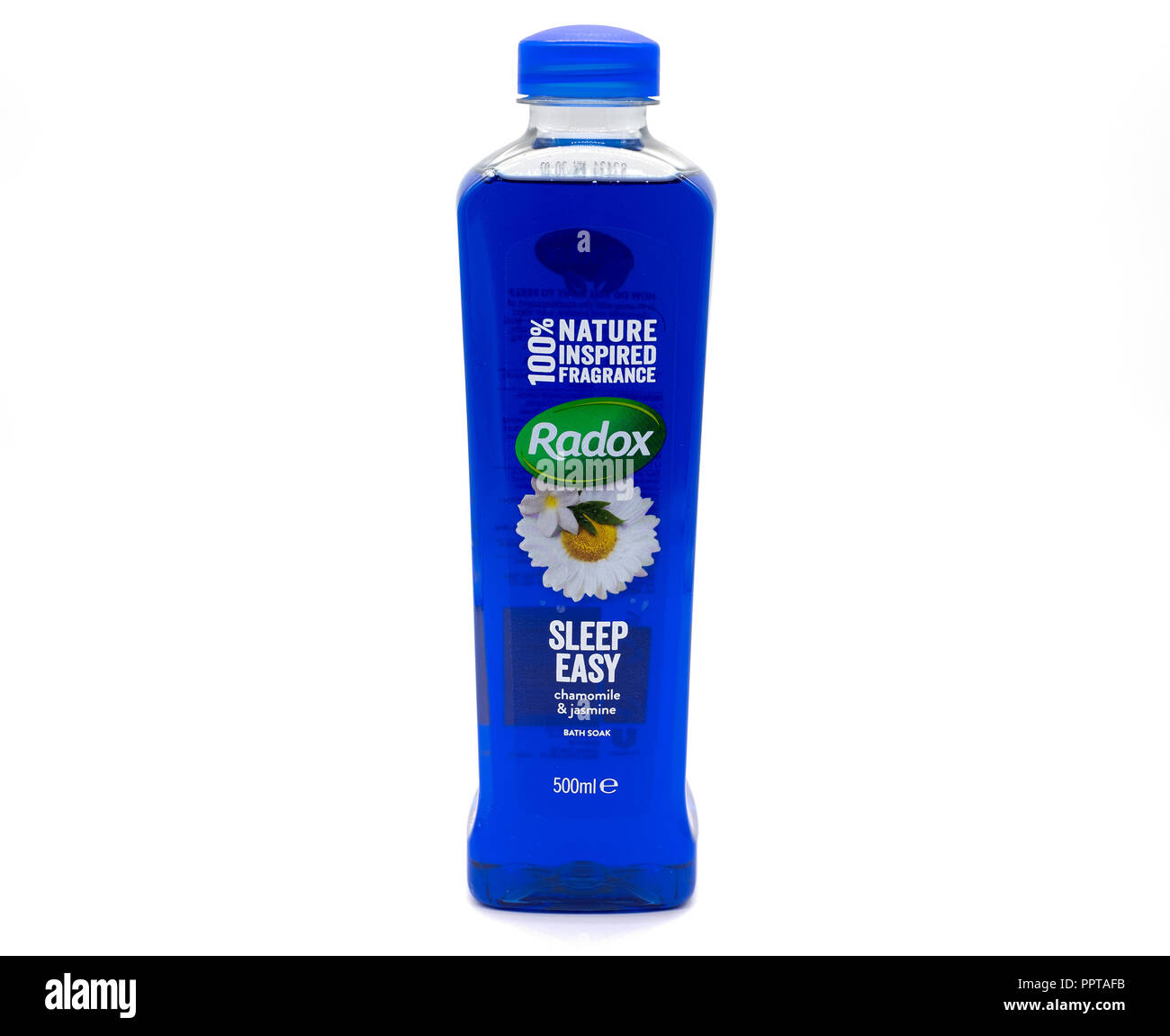 Largs, Scotland, UK - September 27, 2018: A bootle of Radox Sleep Easy bath Soak in recyclable Plastic Bottle. - Stock Image