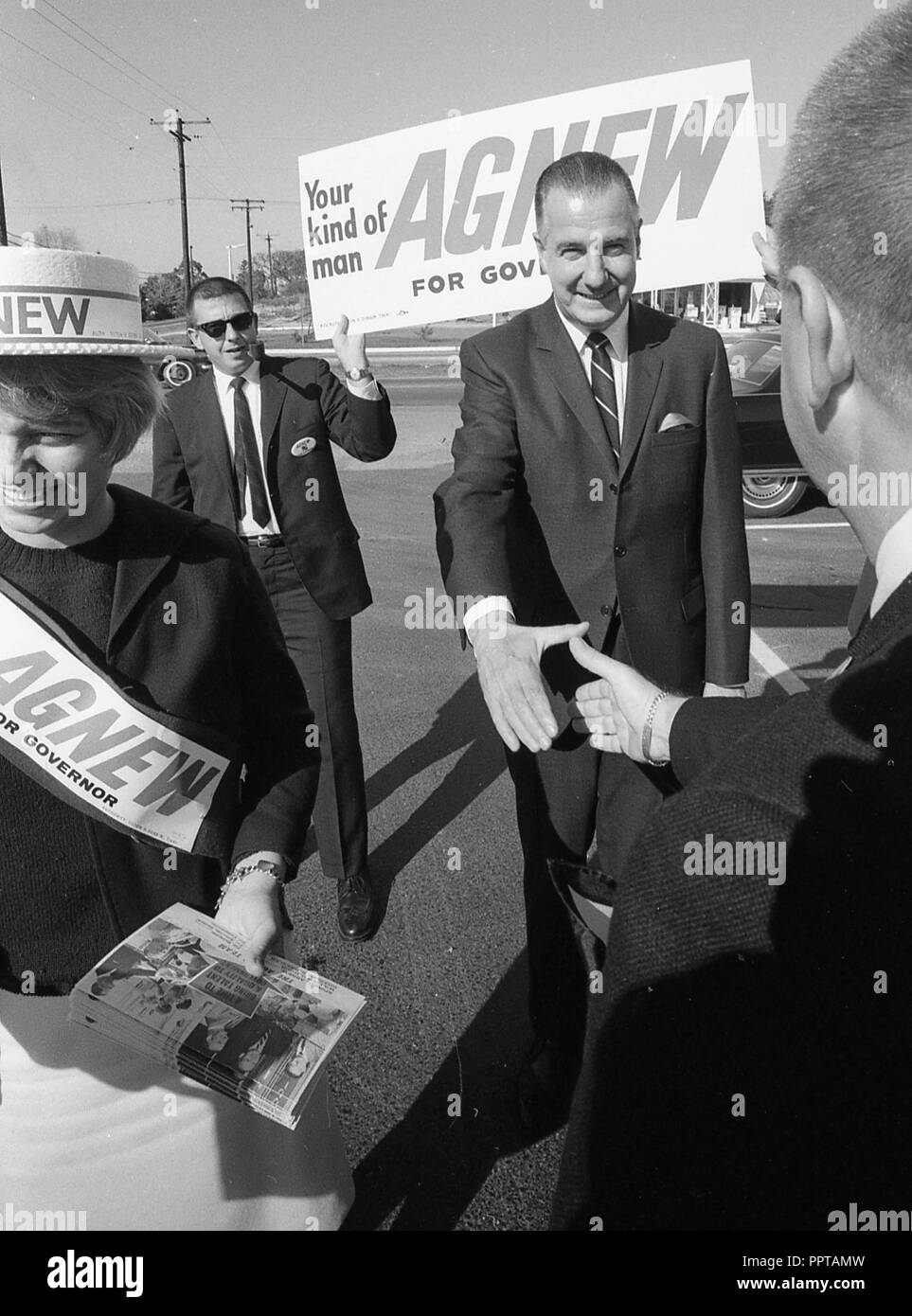 Baltimore, Md, 1966/11/01  Candidate for Governor of Maryland Spiro, Ted, Agnew in November 1966.   photo by Dennis Brack bb 48 - Stock Image