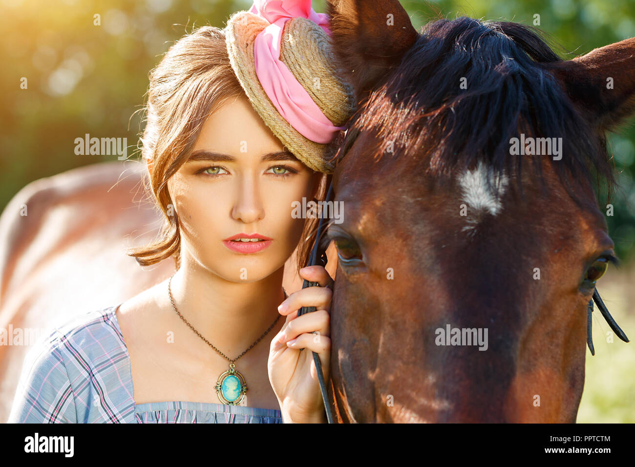Beautiful Women With Horse High Resolution Stock Photography And Images Alamy