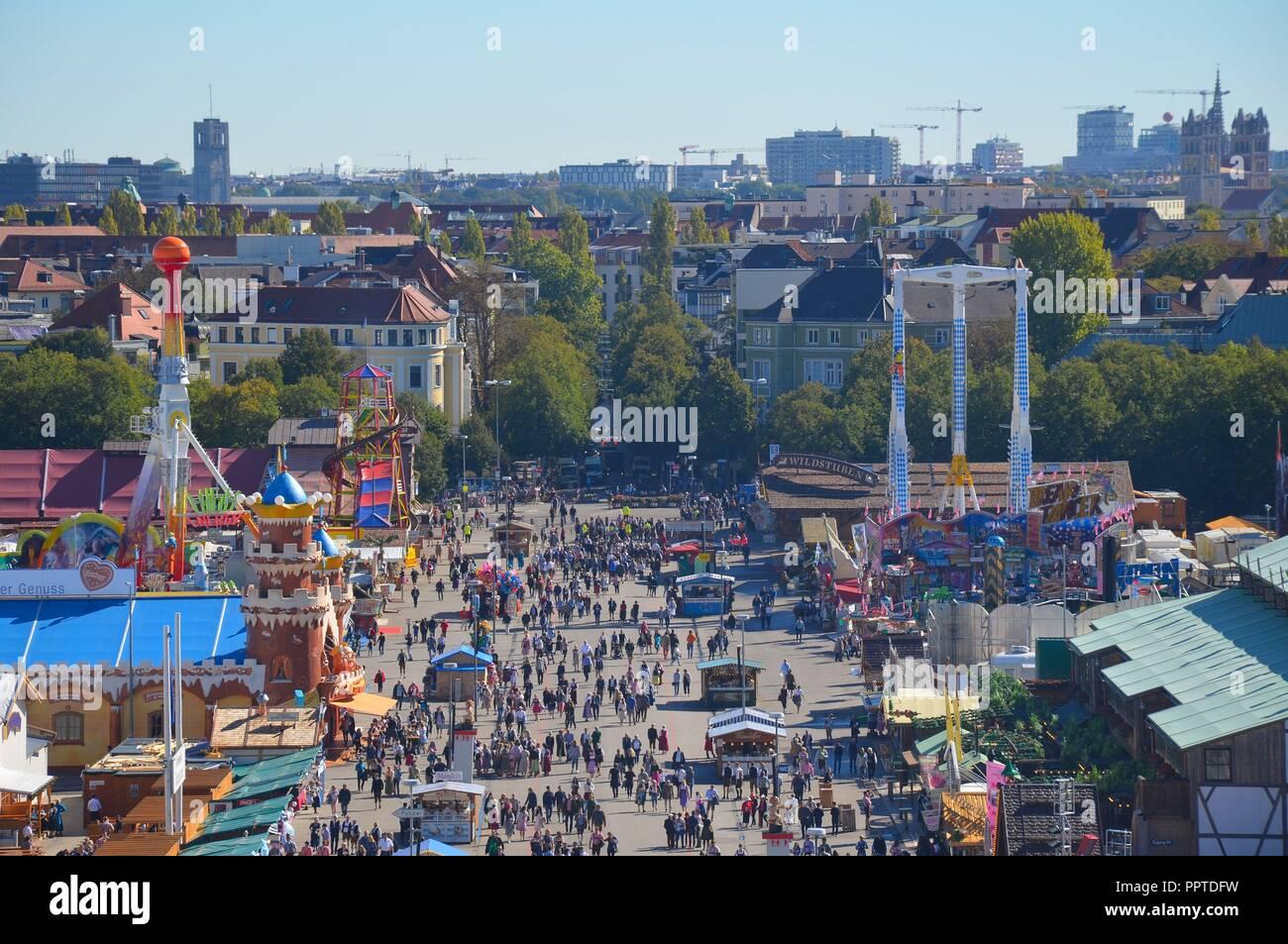 Auf dem Oktoberfest in München, Bayern, im September 2018 - Stock Image