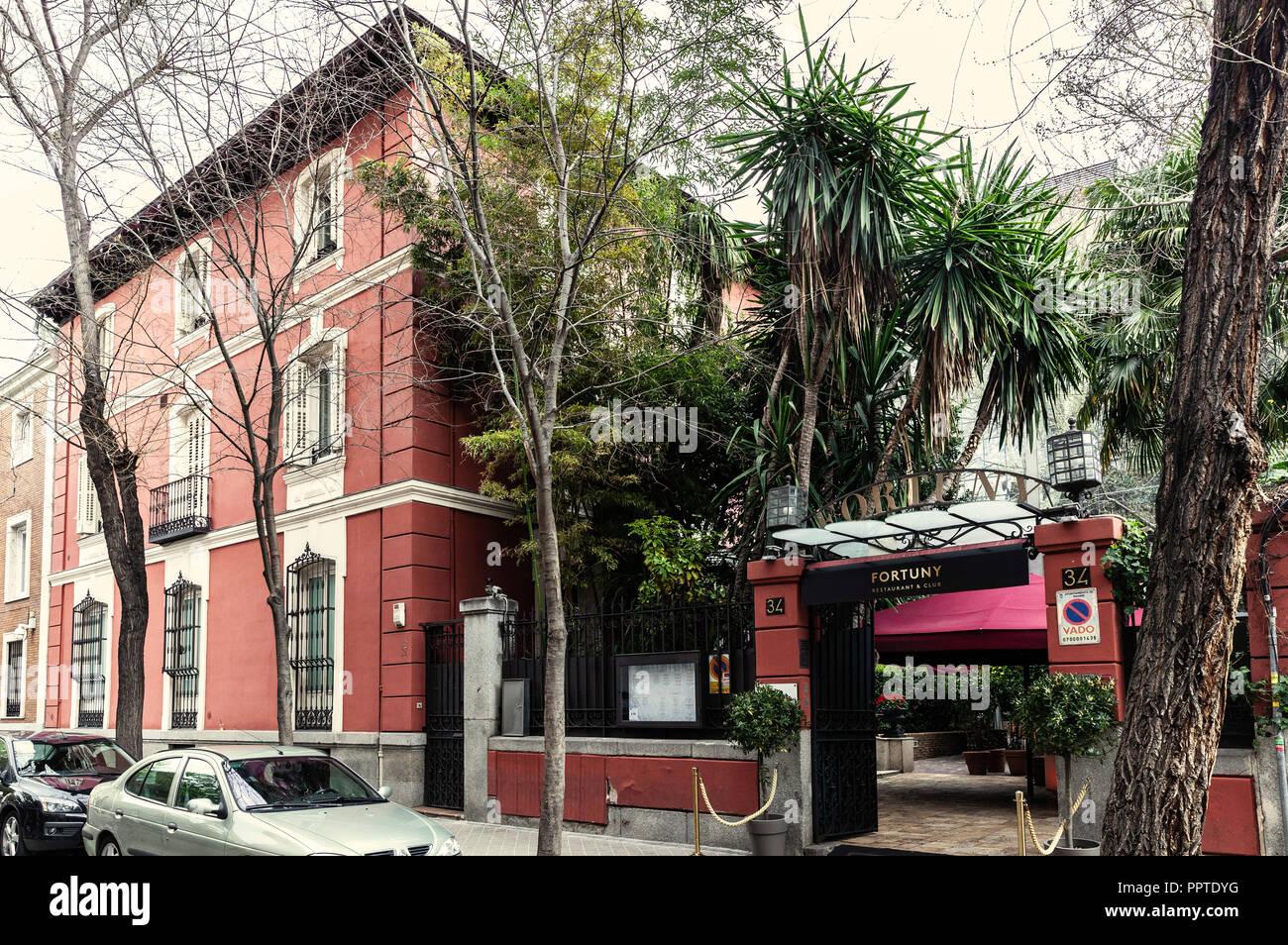 Fortuny Restaurant Club Calle Fortuny Madrid Spain