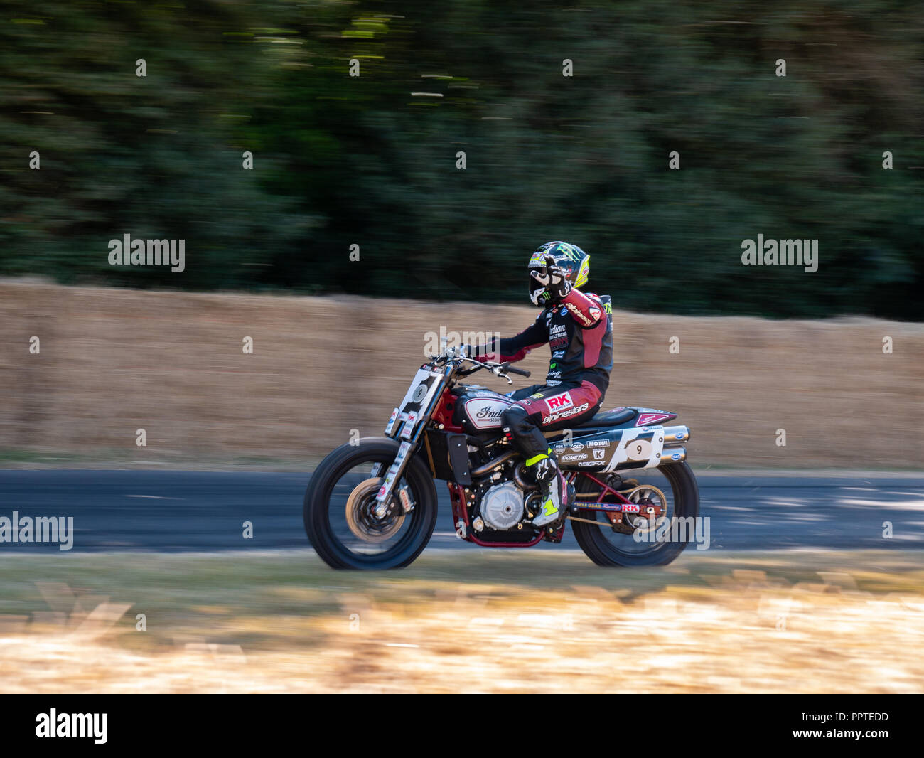 Indian Scout FTR750 at Goodwood Festival Of Speed 2018. - Stock Image