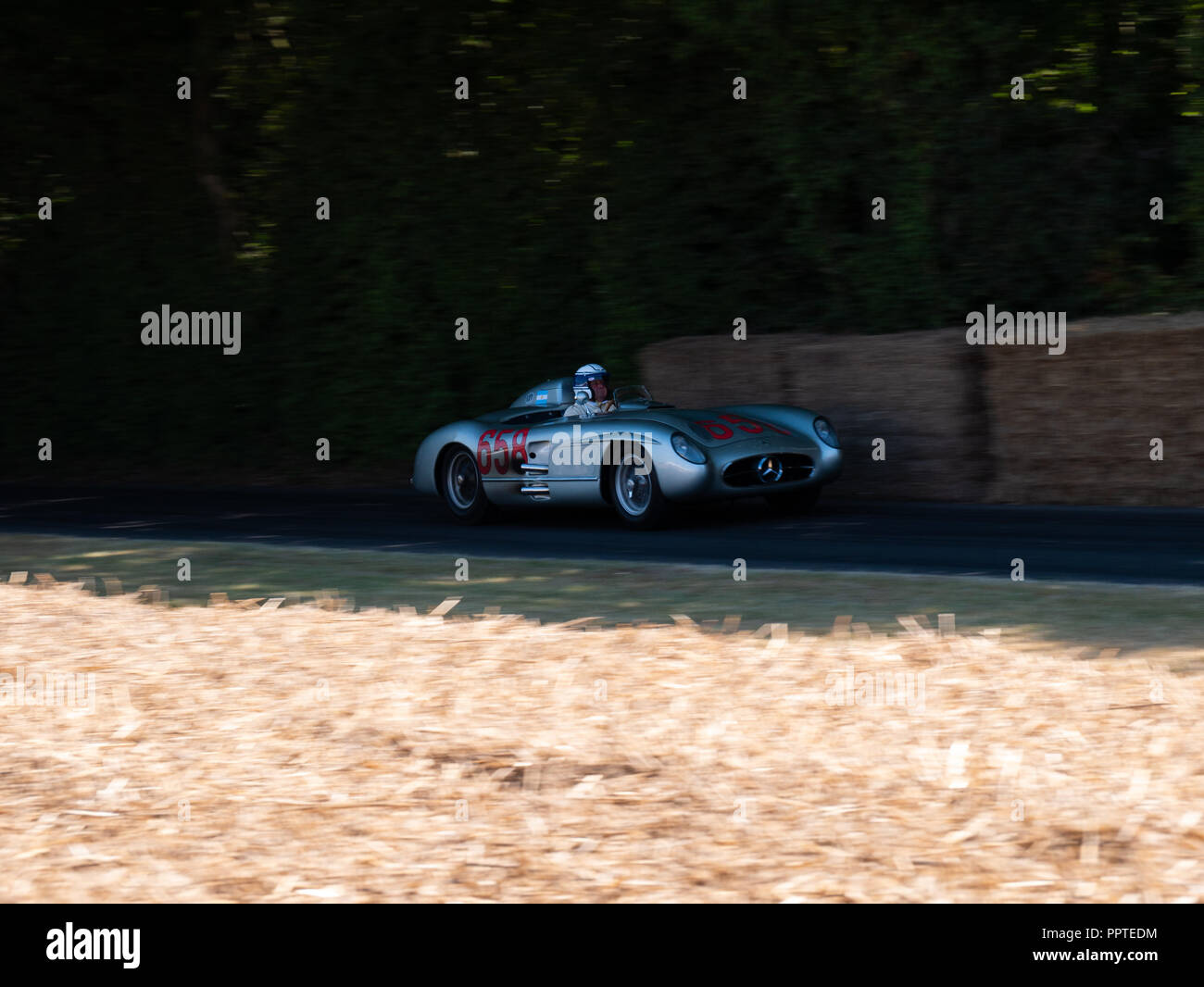 Mercedes-Benz 300SLR at Goodwood Festival Of Speed 2018. - Stock Image