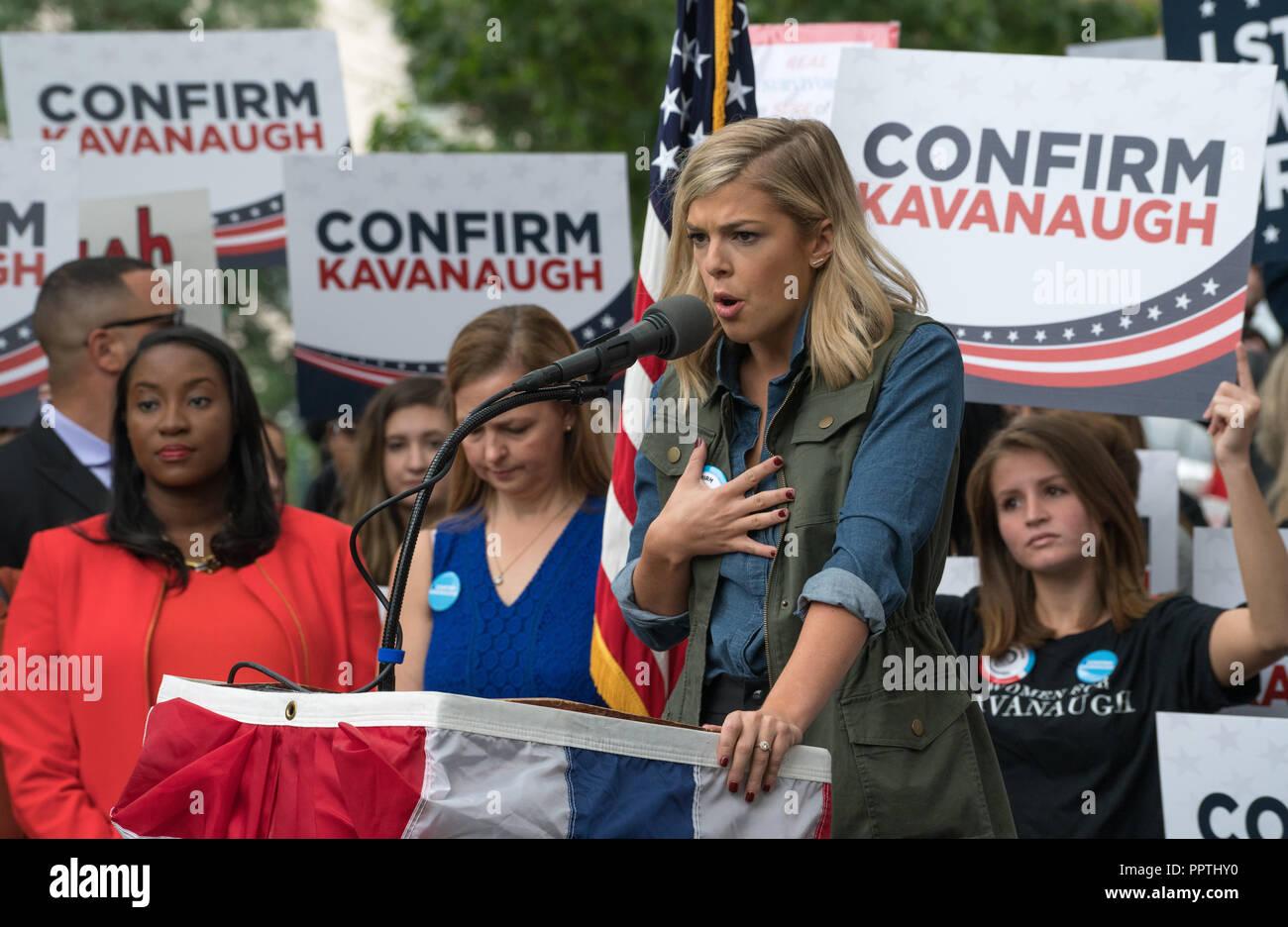 Washington, DC – September 27, 2018:  Women Hold Rally Supporting Supreme Court Nominee Brett Kavanaugh Credit: Xavier Ascanio/Alamy Live News Stock Photo