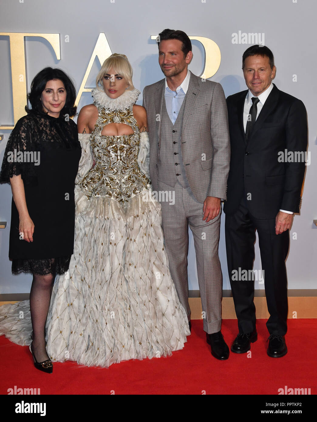 London, UK. 27th September 2018. Lady Gaga ,Bradley Cooper and cast crew  attend A Star Is Born UK Premiere at Vue Cinemas, Leicester Square, London,  UK 27 September 2018. Credit: Picture Capital/Alamy