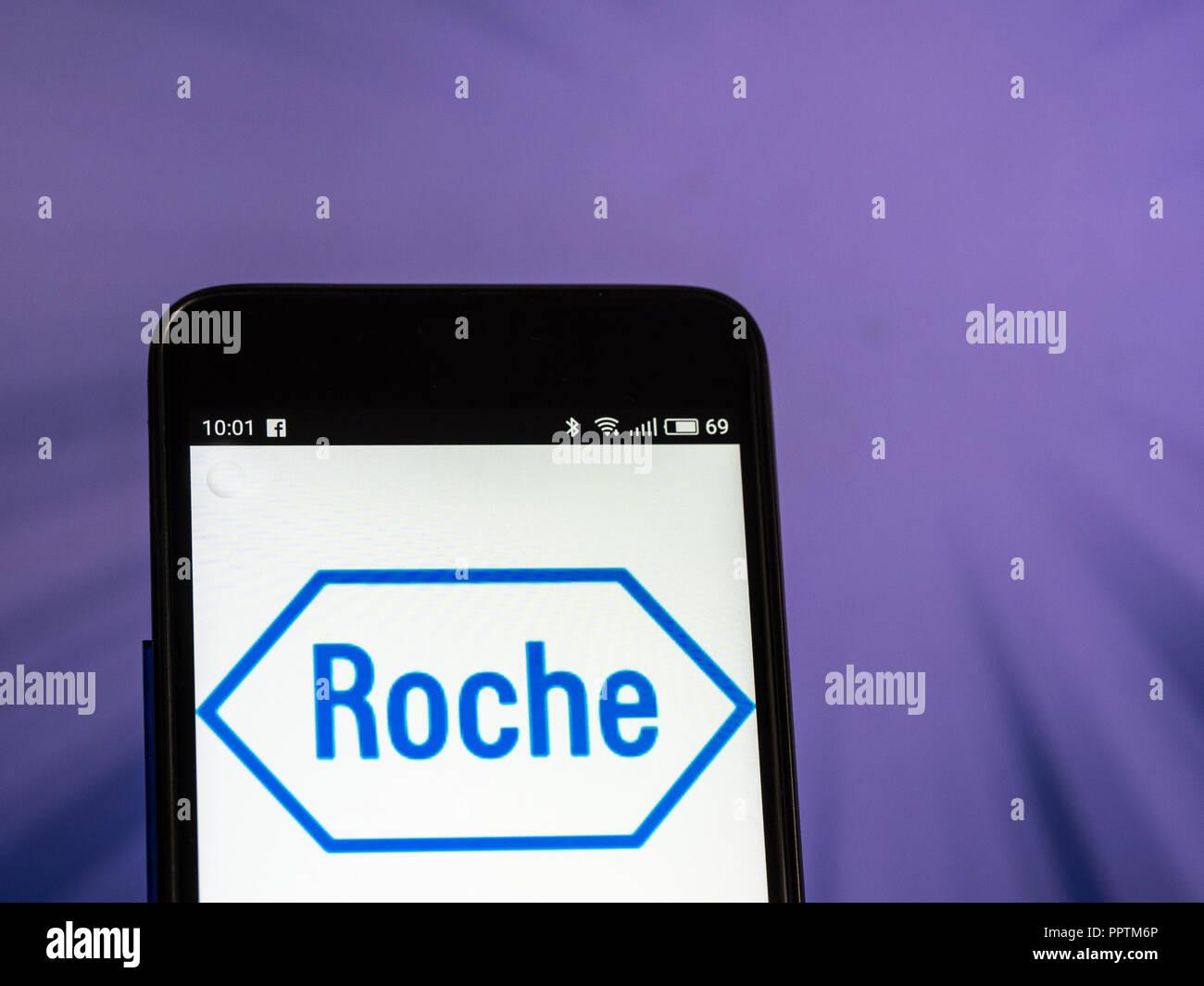 September 27, 2018 - Kiev, Ukraine - Hoffmann-La Roche logo seen