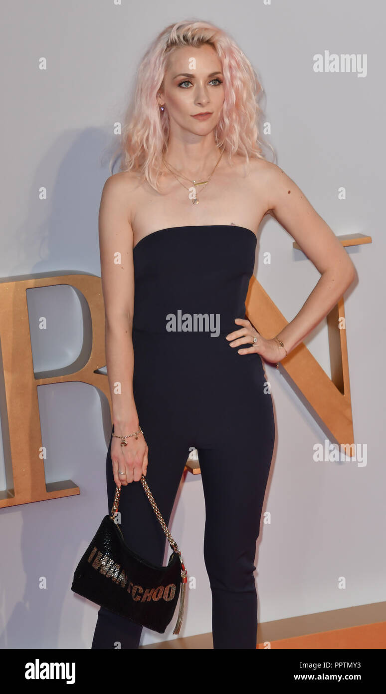London, UK. 27th September 2018. Portia Freeman attend A Star Is Born UK Premiere at Vue Cinemas, Leicester Square, London, UK 27 September 2018. Credit: Picture Capital/Alamy Live News Stock Photo