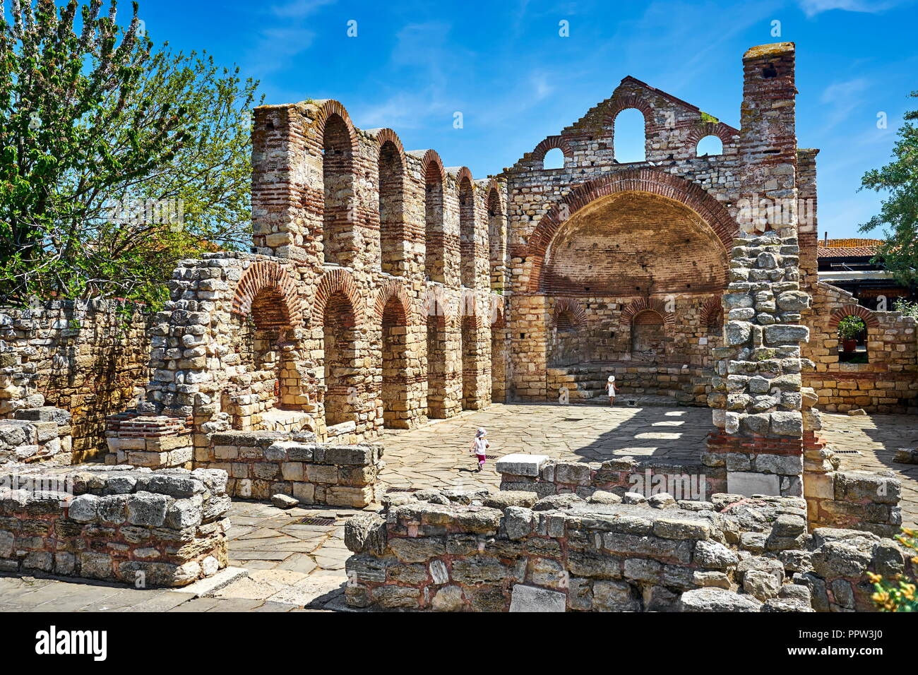 Ruins of Church of St. Sophia, Nessebar, Bulgaria - Stock Image