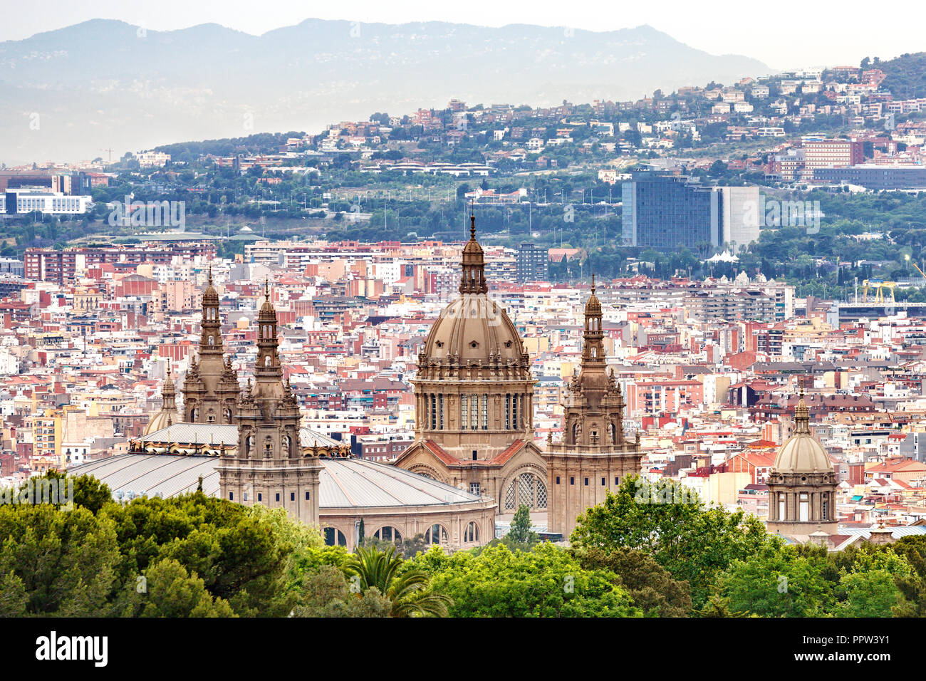 Aerial View Of Barcelona Spain Stock Photo 220598757 Alamy