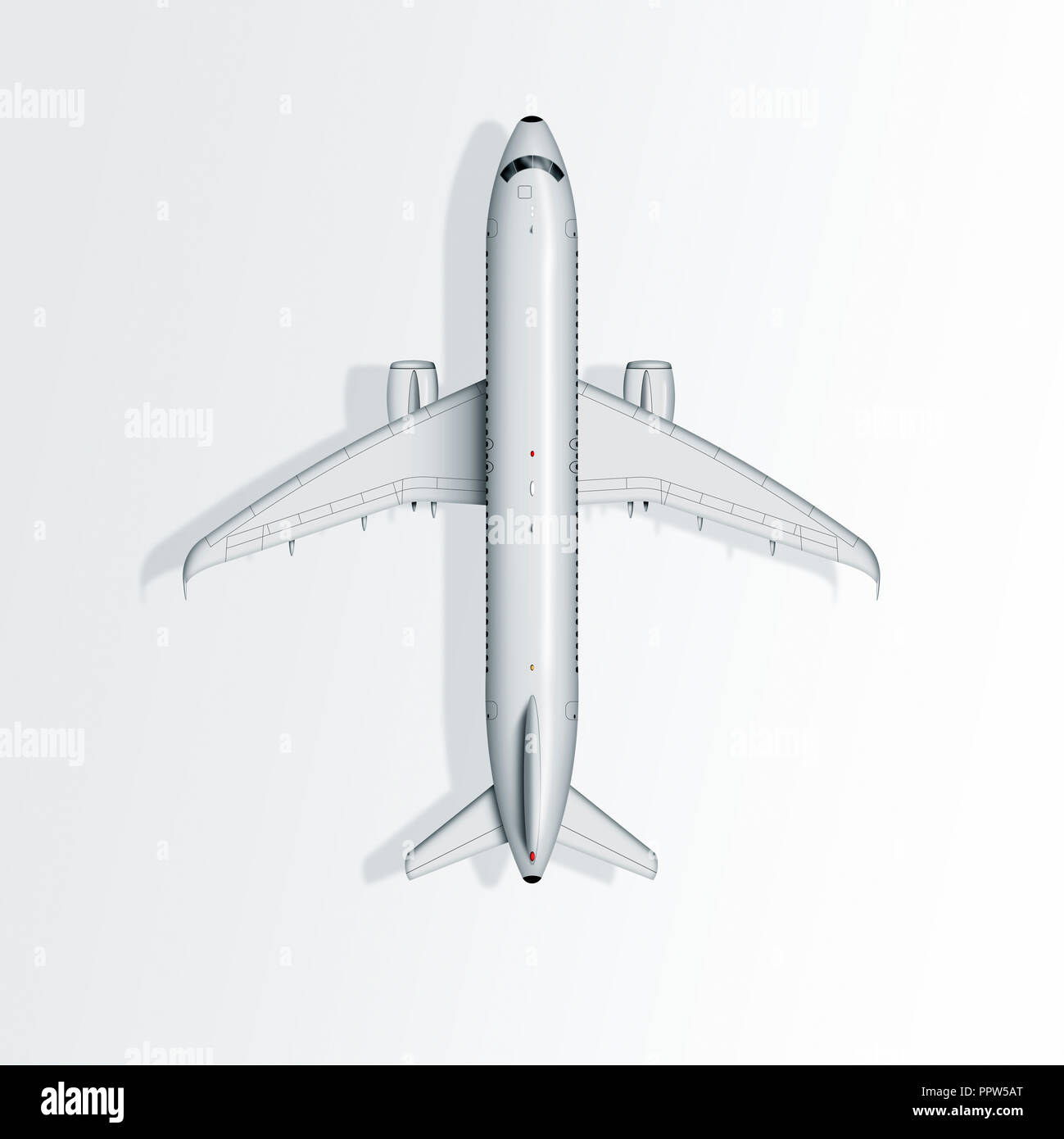 Airplane Airbus A320, white aircraft, Stock Photo