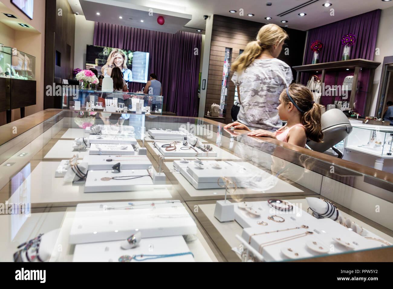 Miami Florida Kendall Dadeland Mall shopping Tous inside Spanish designer handbags jewelry jewellery accessories - Stock Image