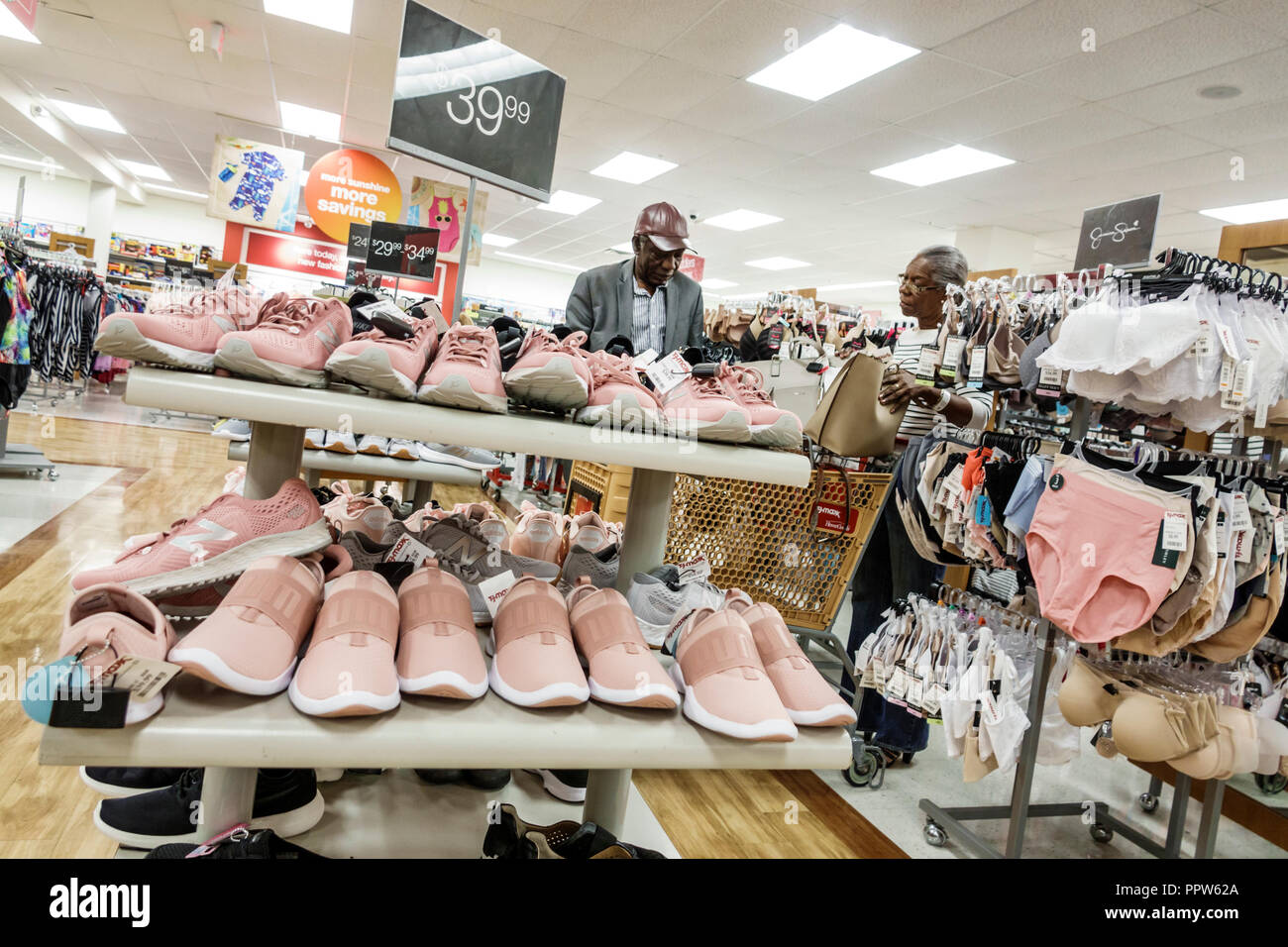 b11eba579f1665 Miami Florida Kendall T.J. TJ Maxx discount department store inside shopping  women s shoes sale display -